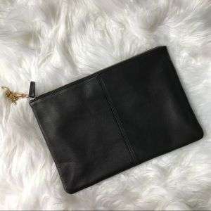 Leatherology Full grain Leather Black pouch